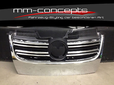 VW Golf 5 V GTI GT Jetta R32 Grill Chrom Kühlergrill