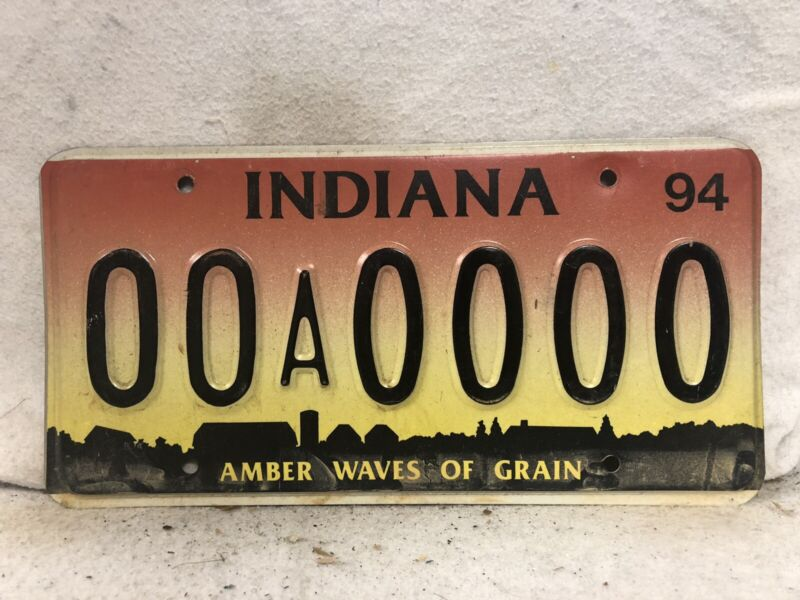 1994 Indiana Sample License Plate