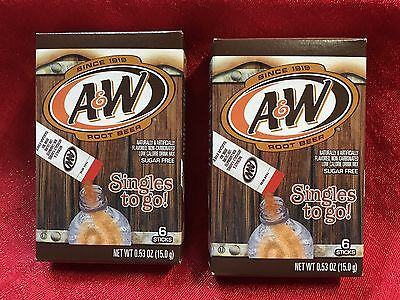 A & W Root Beer Singles to go! 12 Packs 2 Boxes Sugar Free