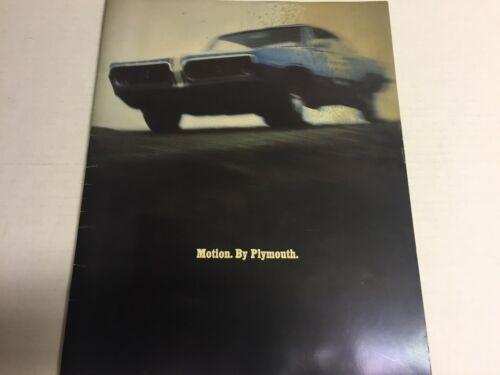 1967 Motion. By Plymouth Performance 24 Pg Brochure Barracuda Sport Fury 440 GTX