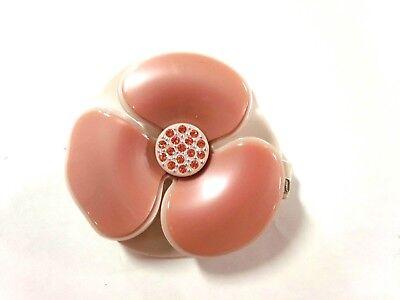 Auth ALEXANDRE de PARIS Pink Beige Plastic Rhinestones Other Jeweleries