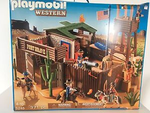 Playmobil western fort toy -New