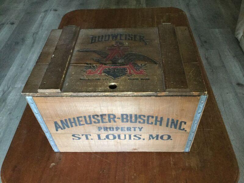 Vintage! Anheuser-Busch Budweiser Wooden Beer Crate/Centennial Edition 1876-1976
