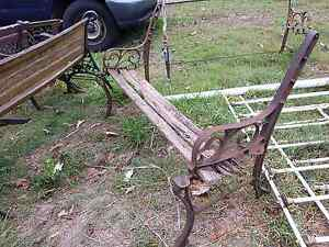 Cast iron ended bench seat for restoration Joyner Pine Rivers Area Preview