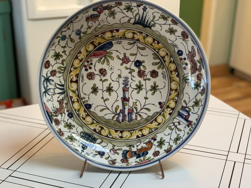 "Nazari, Portugal Williams Sonoma Hand painted Large Serving Bowl 14"" Brand New"