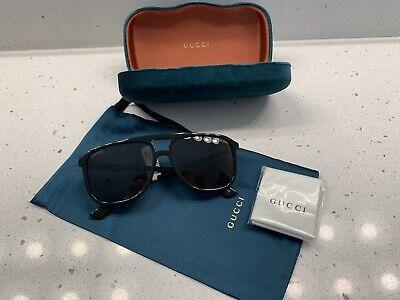 GUCCI Square Acetate Aviator Sunglasses