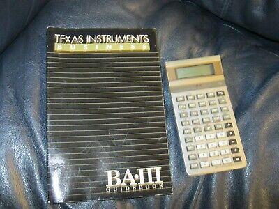 Texas Instruments BA-III Business Calculator with Instructions  (Ti Ba Iii)