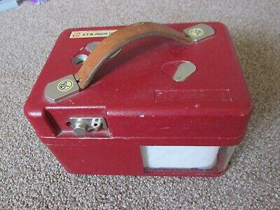 STB Swiss Made 14Q-1783 Vintage Pigeon Racing Clock Red Metal