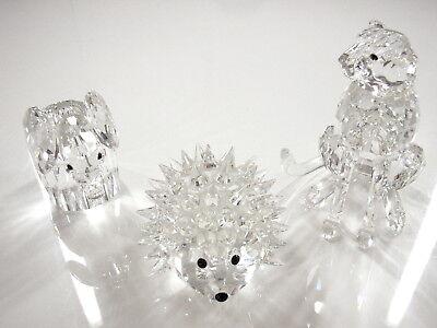 N88- 3 SWAROVSKI Kristallfiguren GEPARD - IGEL - ELEFANT