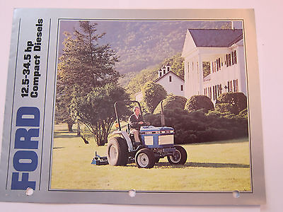 Original Ford Tractor Compact Diesels Dealer Color Brochure Manual More Listed