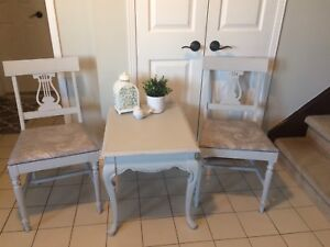 Shabby chic refinished furniture
