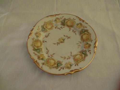 "E S Erdmann Schlegelmilch Prussia 1811 yellow rose 8"" plate"
