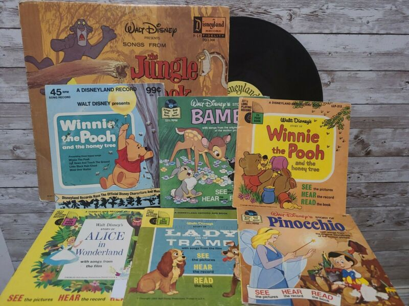 Collection Of Disneyland Records And Books VINTAGE 50