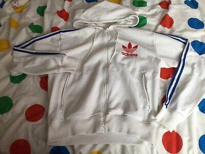 Men's Genuine Adidas Sports Trefoil Hooded Jumper Top Size Large Hoody Hoodie