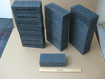Lot Of 20 Blocks Black Polyethylene Foam7-14 X 3 X 2-18