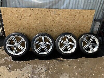 AUDI A4 A6 ALLOY WHEELS AND TYRES 225/45 R18