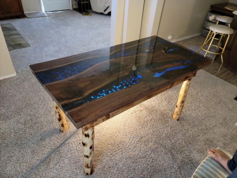 Handmade Epoxy River / live Edge Table (CUSTOM ORDER) one of a kind! furniture