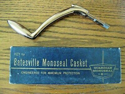 Vintage Batesville Monoseal Bronze Casket Key in Original Box FREE S&H
