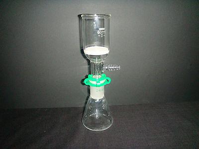 100mlglass Suction Filter Kit60ml Buchner Funnel100ml Lab Erlenmeyer Flask