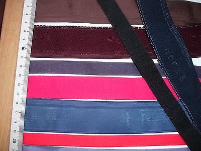 50m Gummiband 0,18€/m in 5 Farben, 5x 10 Meter, 12 bis 38mm breit
