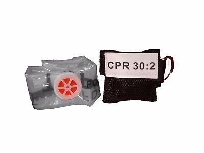 1 Black Cpr Keychain Mask - Face Pocket Shield With Gloves