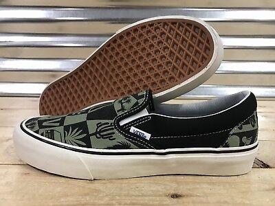 Vans Classic Slip On SF Skate Shoes 'Yusuke Hanai' Green SZ 9 ( VN0A38F7VML )