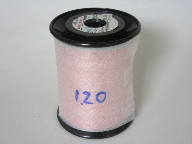 46 AWG  1.20 lbs.   Elektrisola PN155 Single Enamel Coated Copper Magnet Wire