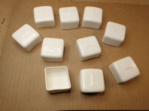 """10, G-Strut Safety End Caps for use with 1-5/8"""" x 1-5/8"""" Strut Channel White PVC"""