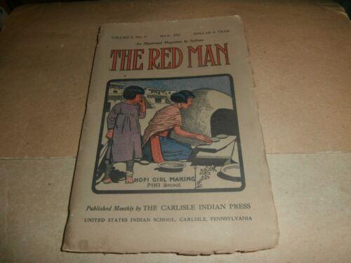 1913 The Red Man Magazine Carlisle PA Indian School Press Hopi Girl Making Piki