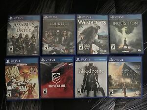 PS4 games from $20 *like new* origins, bloodborne, etc.
