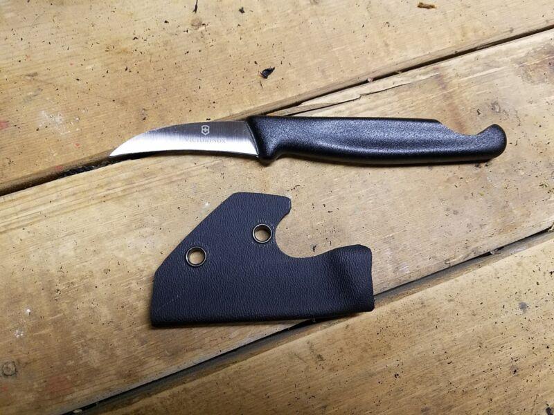 (Pikal Knife) BLK Kydex & NOTCHED Victorinox 40606 Bird