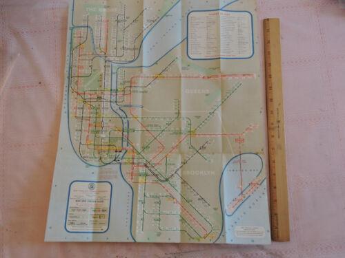 RARE 1961 edition        New York City NYC Subway Map Brooklyn Bronx