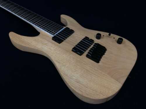 Haze E007NOIL Solid Body 7-String Electric Guitar - Natural Oil + Free Gig Bag