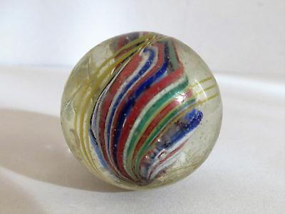 Antike MURMEL Glasmurmel Märbel mit Abriß Schusser (3)