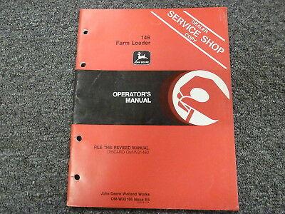 John Deere 146 Farm Loader Attachment Owner Operator Maintenance Manual Omw35196