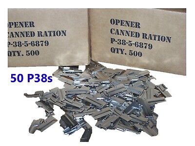 P38 P-38 Shelby Can Opener 50 Ea Army Military USMC Marine Corps Mess Kit Ration