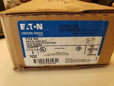 Eaton Crouse-hinds Fs2 Sa Single Gang Box 34 5pk