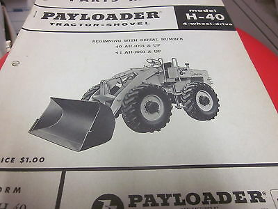 International Hough H-40 Pay Loader Tractor Shovel Parts Manual