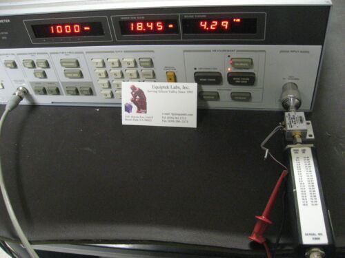 HP8970A & Anritsu N346B  Meter & Noise Source WORKS!  ENR Excess Noise Ratio set