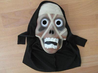 einfache Kinderfaschingsmaske, Gruselmaske mit Kopfbedeckung,