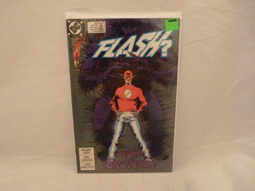 DC Comics FLASH  #26 May 1989 Beware the Porcupine Man!   VF w/Protector !