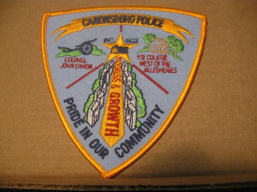 CANONSBURG PENNSYLVANIA POLICE PATCH (COLONEL CANON/1ST COLLEGE)