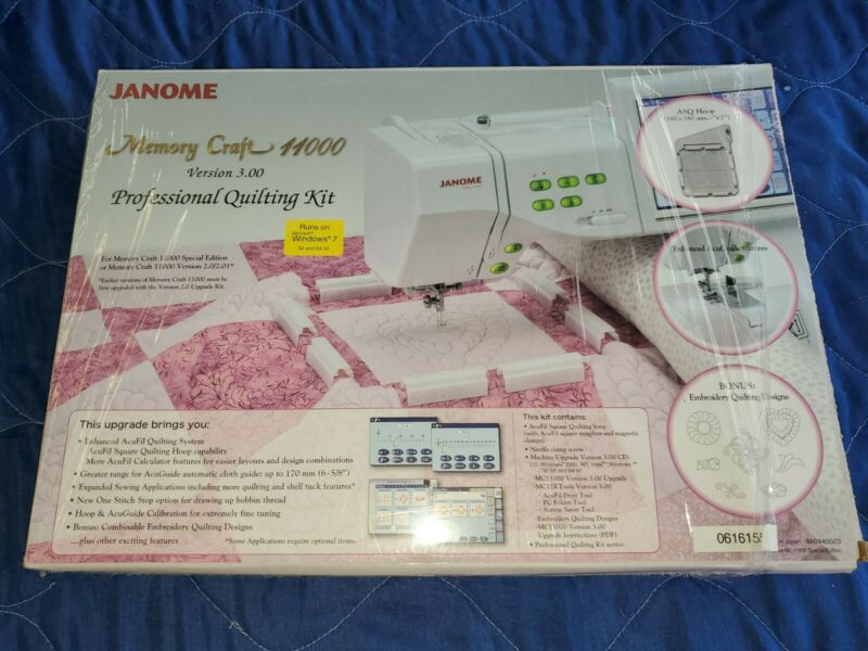 Janome Memory Craft 11000 Version 3.00 Professional Quilting Kit