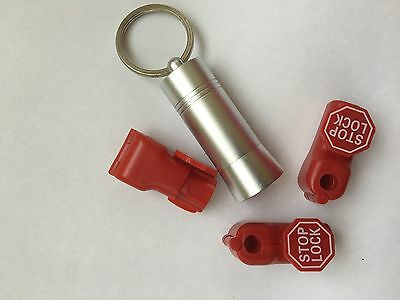 18 Retail Security Stop Lock With Detacher Key For Display Hook - 6mm