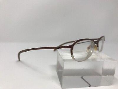Police Eyeglasses Italy 2643 Rose Gold Metal Frame 51-17-135 Half Rimless (Police Rimless Glasses)