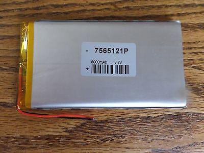 1 3.7V 8000 mAh Polymer Li Lipo Battery  GPS PSP PDA ipod DVD Tablet  PC7565121