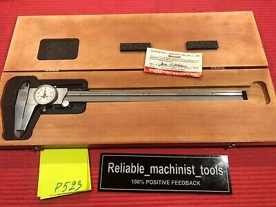 American Made Starrett 12 Inch Dial Caliper Model 120 Machinist Tools P523
