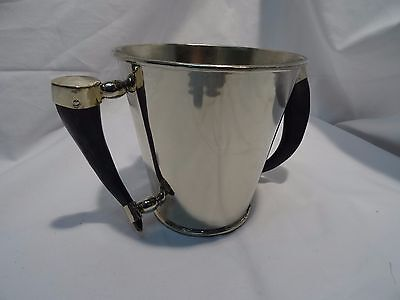 Alpacca/Alpaka Champagner/Sekt Kühler mit Griff aus Ziegenhorn