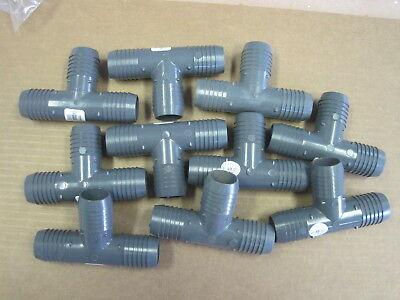 Lot Of Ten 10 Lasco 1-14 Insert Tee Pvc Mfr 1401012