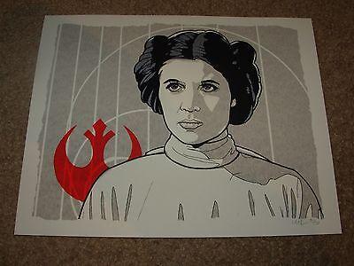 Star Wars Rogue One Princess Leia Carrie Fisher Handbill Poster Print New Flesh